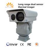13km de Dubbele Camera van de Thermische Weergave van de Sensor PTZ IP Weerbestendige