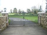 Оцинкованный ворота из кованого железа поддельных внутренних ворот для сада