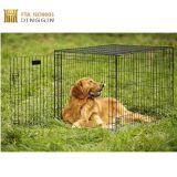 Gabbia all'ingrosso dell'animale domestico del metallo della gabbia del cane con vernice nera