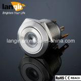 LED-flacher Edelstahl-PUNKT geleuchteter Druckknopf