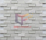 Белый цвет оформление мозаика, Volakas и стекло (CFS700)