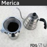 1200mlはベークライトのハンドルが付いている長い口のコーヒーやかんに注ぐ