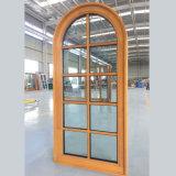 Наиболее популярные арочных верхней части окна Round-Top древесины деревянные окна с решеткой