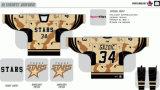 Hokey di ghiaccio americano personalizzato delle stelle di Texas della Lega di Hockey dei capretti delle donne degli uomini 2009-2016 Jersey