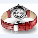 Relógio mecânico luxuoso da cinta da chapa de aço do relógio do relógio de senhoras