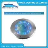 316 acero inoxidable 27W de luz LED de colores RGB bajo el agua de fuente
