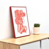 Горячие продажи красного цвета из алюминия картин рамы для дома украшения