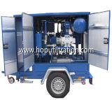 Mobile monté sur remorque vide purificateur d'huile du transformateur, l'isolement de filtration de l'huile, système de purification de l'huile diélectrique