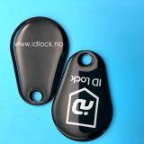 13.56MKHz Verein NTAG213 fertigen Epoxid-RFID keychain Marken-Schlüssel Fob mit kundenspezifisch an