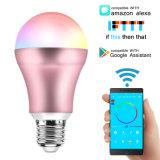 Ce, l'approbation RoHS RGBW Ampoule de LED Alexa/Home/Tuya APP Google contrôlée Ampoule LED intelligent WiFi