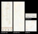 tegel van de Muur van de Badkamers van 300*800mm de Glanzende Binnenlandse Ceramische met Decoratie