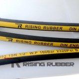 SAE de qualidade R2 R3 trançado de fibra a mangueira hidráulica de Borracha