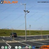 6mの街灯柱50Wの太陽風ハイブリッドLEDの街灯