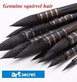 Щетка искусствоа ручки волос белки деревянная
