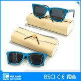 Óculos de sol de bambu de Eyewear do curso desobstruído inovativo do frame com caso
