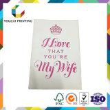 Personalizar la tarjeta de felicitación de papel del regalo de boda del cumpleaños de Chirstmas