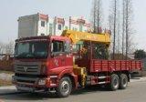 La Chine grue 6X4 sur le chariot 8 tonnes camion avec grue pour la vente
