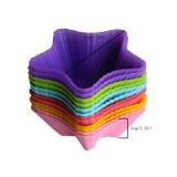 Moulage simple de chocolat de silicones de moulage de gâteau de silicones de gâteau de pain/moulage glace de silicones/moulage de gâteau forme d'étoile