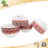Ciotola di ceramica della decalcomania astuta sana di Eco-Firendlly per uso del bambino