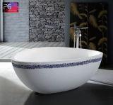 Entspannenzwei Personen-festes Oberflächendreieck-geformte Badewanne