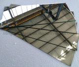 3-10mm großer Frameless abgeschrägter Rand-Glasspiegel, abgeschrägtes Spiegel-Glas