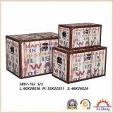 أثاث لازم بيتيّة خشبيّة تخزين [جفت بوإكس] مجموعة من 3 شنطة خشبيّة