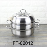 Double-fond multicolore en acier inoxydable de la Soupe Pot et le cuiseur vapeur combinaison-02012 (FT)