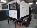 Generación Diesel 30 kW Generador silencio con 3 ruedas del remolque