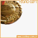큰 메달 주문 로고 (YB-HR-60)의 정연한 방아끈 동전 그리고 메달