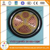 Câble d'alimentation en acier de cuivre d'armure de bande