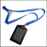 Colhedor feito sob encomenda barato do suporte de carretel do emblema do cartão do plástico Name/ID para o emblema da identificação (NLC011)