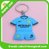 Blauer Fußball-Spieler-Gummi 2D/3D Rubbier Keychains