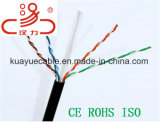 Напольный одиночный кабель аудиоего разъема кабеля связи кабеля данным по кабеля куртки Utpcat5e/Computer