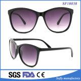 Óculos de sol roxos da lente do grande frame ultra claro