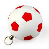 De plastic Stok van het Geheugen van Keychain van de Aandrijving van de Flits van de Voetbal USB 4GB