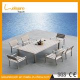 La maggior parte dei insiemi antichi popolari della Tabella della fusion d'alluminio di stile con il vimine per la mobilia pranzante esterna del giardino