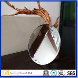 Double miroir en aluminium en verre de flotteur d'espace libre d'enduit pour la décoration à la maison