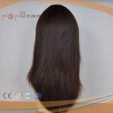 Parrucca cascer ebrea superiore di seta di colore del Brown (PPG-l-01117)