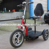 De vouwbare 3-wiel Elektrische Gember Roadpet van de Autoped van de Mobiliteit van het Voertuig van het Sightseeing 500W