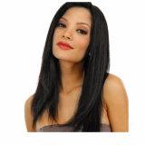 Естественный прямой бразильский парик фронта шнурка человеческих волос девственницы
