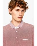 Camisa de polo de los hombres de Oxford con la funda corta