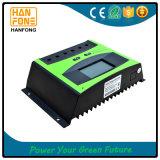 régulateur de batterie de panneau solaire d'affichage à cristaux liquides du commutateur 12V/24V automatique/contrôleur intelligents de charge