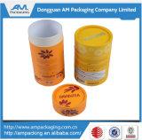Dongguan-Kasten-Hersteller-Papier-Tee-Kasten-Großverkauf-rundes verpackengefäß mit Firmenzeichen