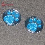 En Forme personnalisée en usine Glittery Paw Dog Tag pour la vente