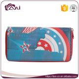 Бумажники RFID женщин муфты застежки -молнии бумажника PU длинних повелительниц OEM кожаный преграждая бумажник