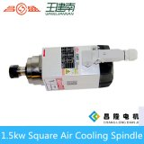 Мотор шпинделя изготовления 1.5kw квадратным охлаженный воздухом высокоскоростной трехфазный асинхронный для деревянного высекая маршрутизатора CNC