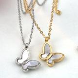 fashion Jewelry 숙녀 스테인리스 백색 쉘 나비 펜던트 목걸이