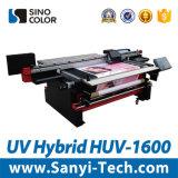 Sinocolorhuv-1600 Broodje van de Printer van de Printer van het grote Formaat het UV Hybride om te rollen en Flatbed Digitale Printer