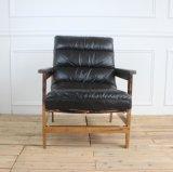 Presidenza di salotto di cuoio nera del Chaise di svago del salone