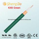 Кабель Kx6 зеленый коаксиальный HD спутниковый для провода антенны TV